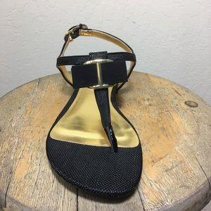 1f557e1db8b Isaac Mizrahi Shoes - Dressy Black Flat Sandals Sz 10